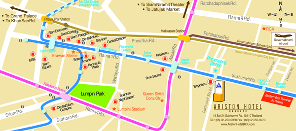 Ariston Hotel Bangkok's Map